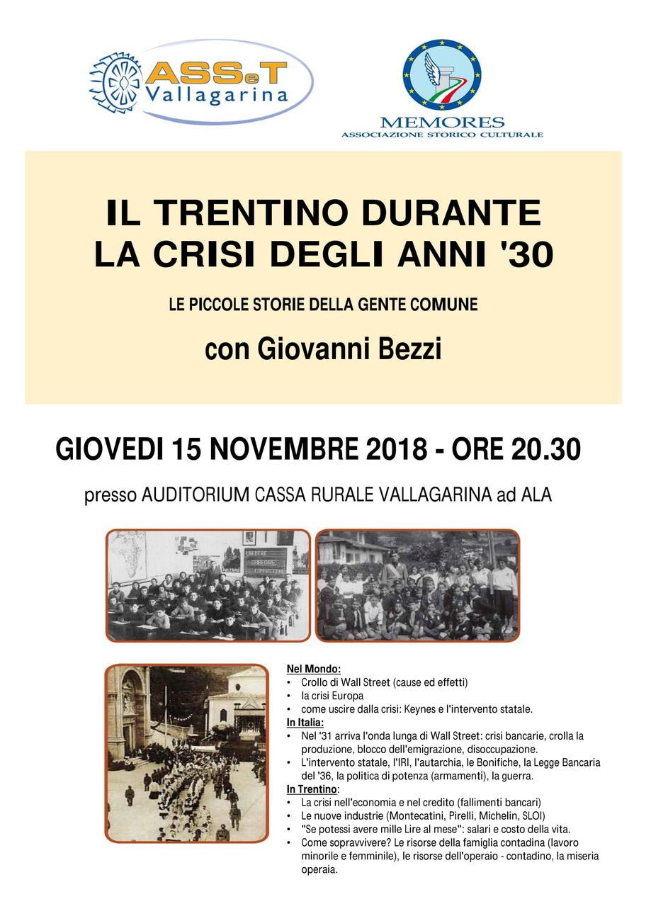 Il Trentino durante la crisi degli anno '30