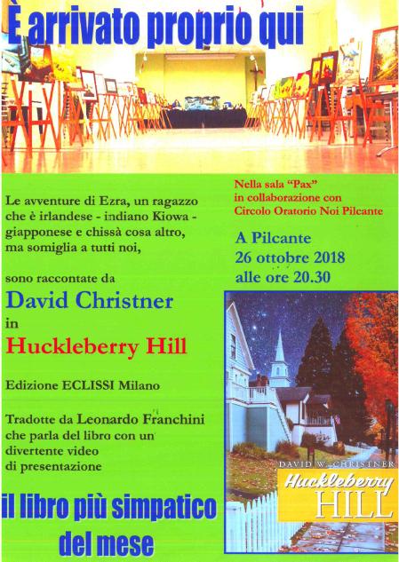 """Presentazione del libro """"Huckleberry Hill"""""""