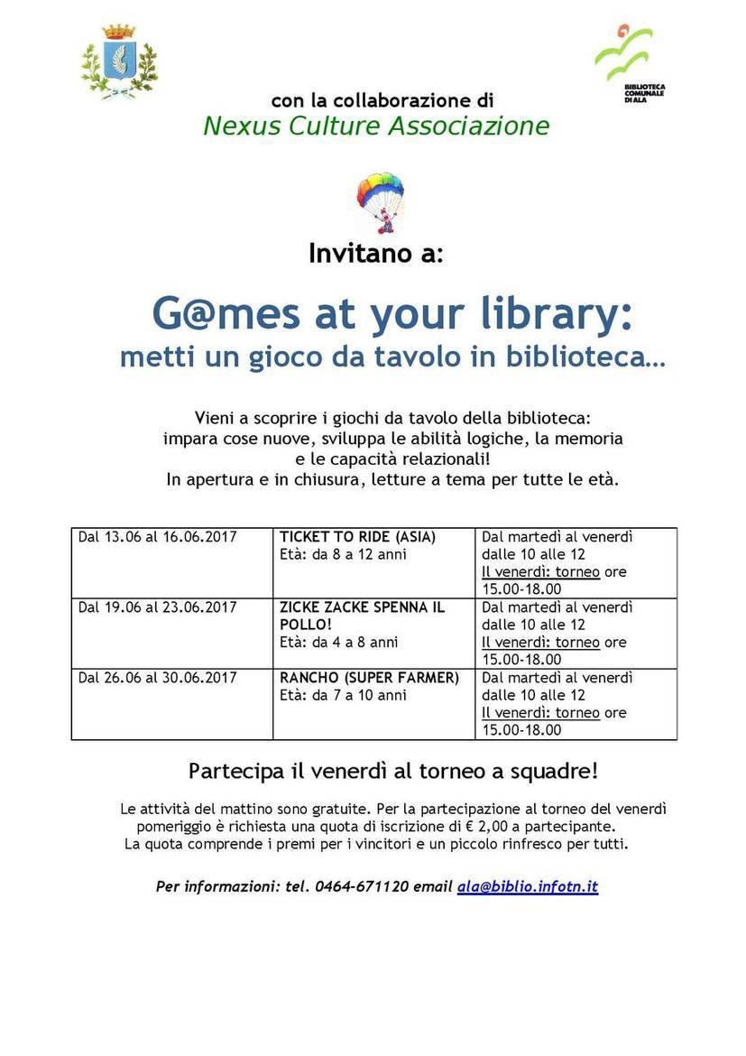 Games at your library